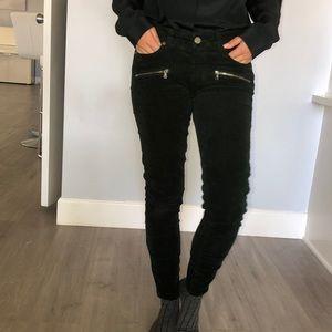 New. Paige dark green corduroy skinny  jeans